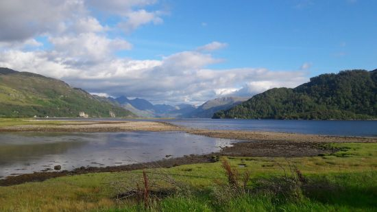 Ardelve looking at the convergence of Lochs Duich, Alsh and Long